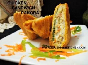 Cheesy Chicken Pakoda Recipe
