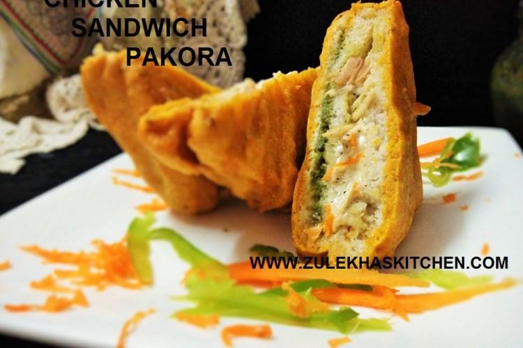 Recipe of Chicken sandwich Pakoda