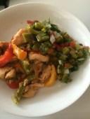 Chicken Fajitas with Cactus salad…delicious!