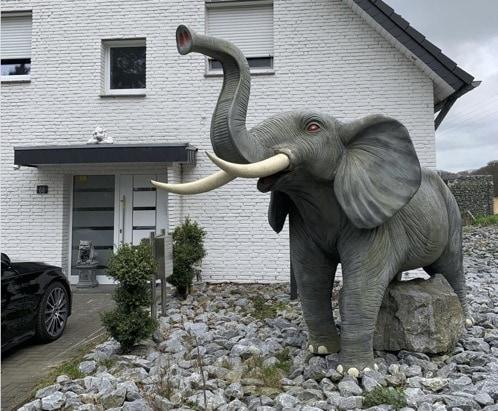 Elefant-Kiesgarten