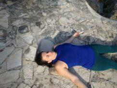 Manuela Ukowitz in Entspannung in Rückenlage