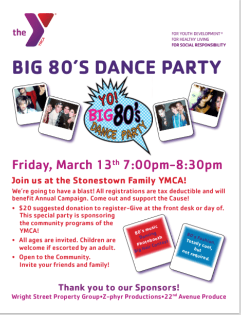 80's Dance Party Flyer