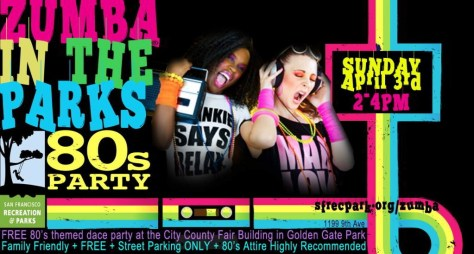 80's Zumba Party Flyer-1