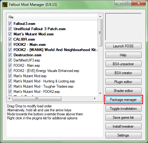 fomm package manager