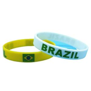 Pair of Brazil Silicone Bands Bracelets - Adults - ZumZum Capoeira Shop