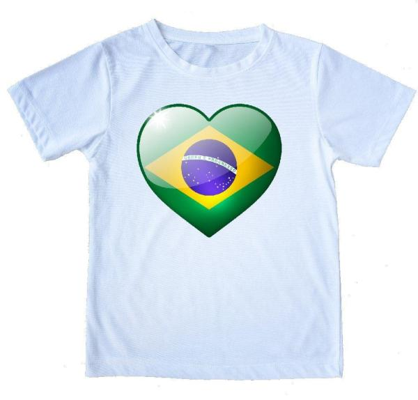 "Printed  Capoeira White T-Shirt - ""Love Brazil"" 100% Cotton - Unisex - ZumZum Capoeira Shop"