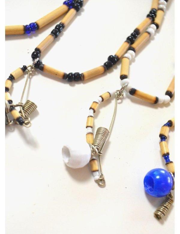 Handmade Berimabu Chain Necklace from Bambuk - ZumZum Capoeira Shop