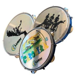 "Semi Professional 10"" Brazilian Pandeiro - Capoeira Designs -Rare and Limited - ZumZum Capoeira Shop"