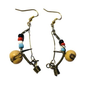Pair of Berimbau Earings - Handmade from Brazil