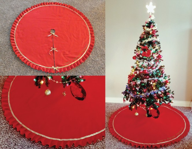 Diy christmas tree skirt tutorial u2013 zunes sewing therapy