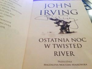 Książk z autografem Johna Irvinga