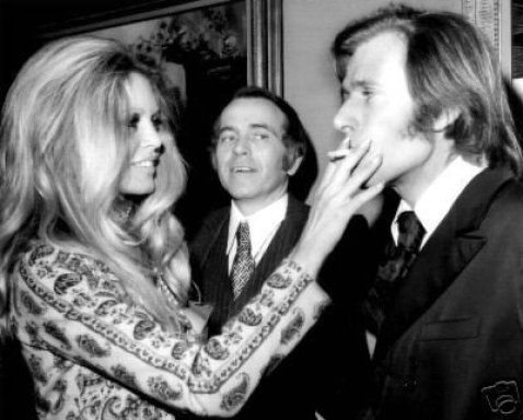 La rencontre Brigitte Bardot et Nino Ferrer, en 1971