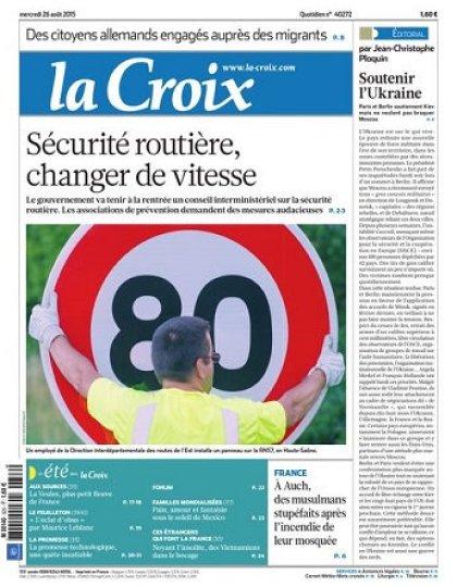 La Croix Du Mercredi 26 Août 2015