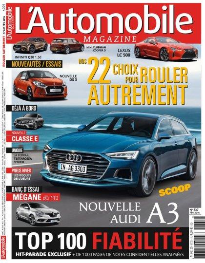 L'Automobile magazine N°837 - Février 2016
