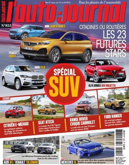 L'Auto-Journal N°955 - 31 Mars au 13 Avril 2016