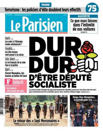 Le Parisien + Journal de Paris du mercredi 28 septembre 2016