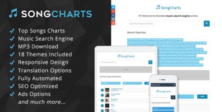 CodeCanyon - SongCharts v1.0 - Top Songs Charts and Music Search Engine