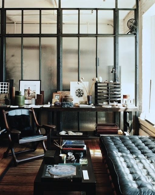 Salon industriel rustique