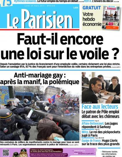 Le Parisien du Lundi 25 Mars 2013