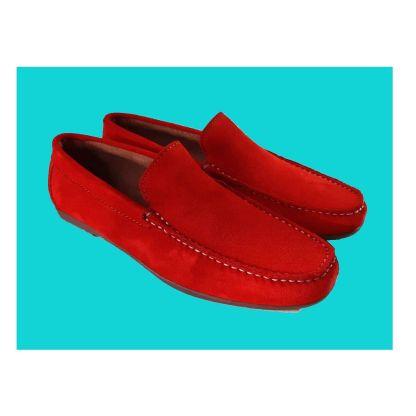zapato hombre rojo