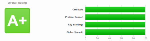 100% on SSL Labs