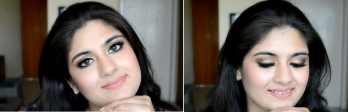 How to apply makeup - Chic bronze and purple eye makeup 02