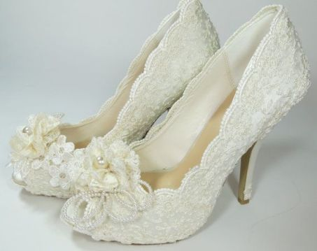 vintage bridal shoes 22