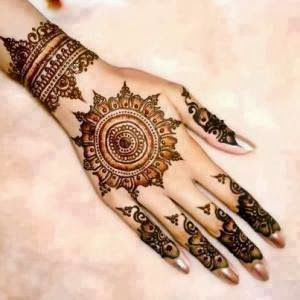 latest mehandi designs 2014 09