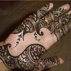 Simple mehndi design for hands 93