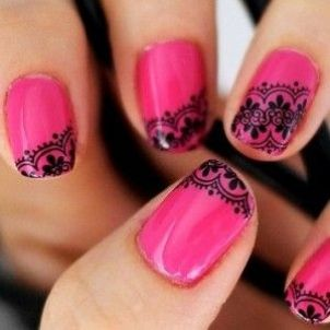 Nail art designs inspired by Indian motifs 02