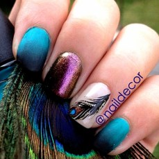 Nail art designs inspired by Indian motifs 08