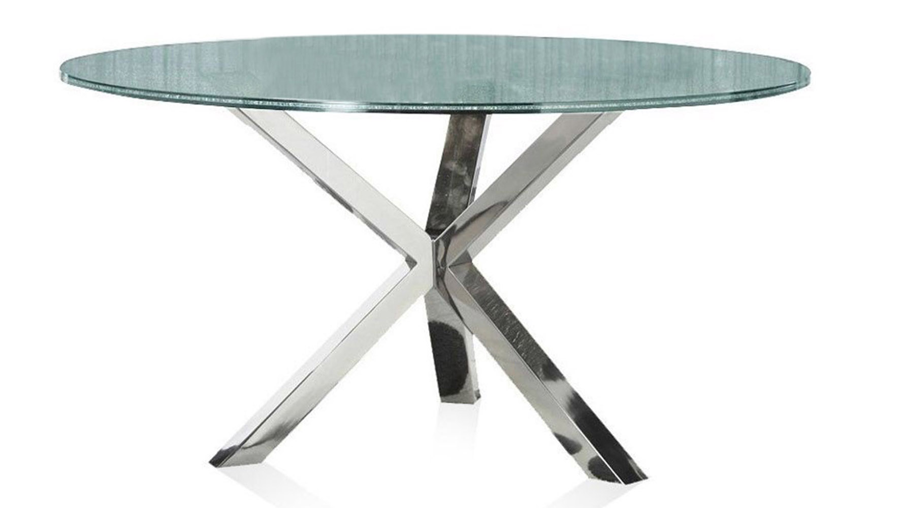 Cointet 60 Inch Round Dining Table - Crackle Glass