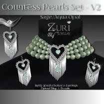 Countess Pearls Set V2- Sage-Aqua Opal