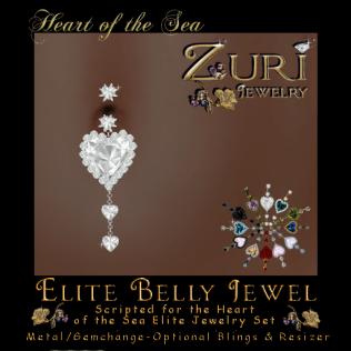 Heart of the Sea Elite Belly Jewel