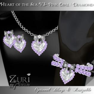 Heart of the Sea V3 Pink Opal - Diamond