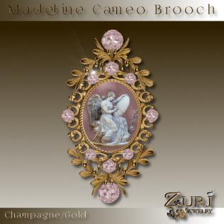 Madeline Brooch ChampagneGold