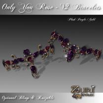 Only You Rose Bracelets - V2 Lush Purple-Gold