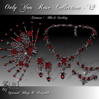 Only You Rose Collection V2-Crimson-Blk Sterling