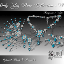 Zuri Rayna- Only You Rose Collection V2-Turquoise_WhitePIC