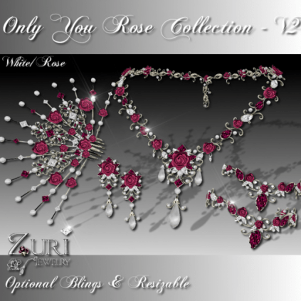 Zuri Rayna- Only You Rose Collection V2-White_RosePIC
