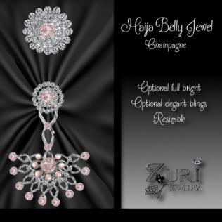 Maija Belly Jewel - Champagne
