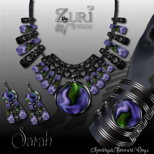 Sarah Set - Amethyst_Emerald_Onyx