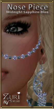 Sweet Misty Nose Piece-Midnight Sappire-Blue