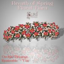 Breath of Spring Floral Tiara V2-Orchid Dreams