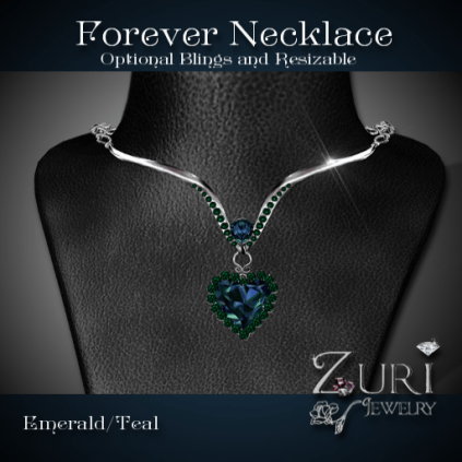 Forever Necklace -Emerald-Teal