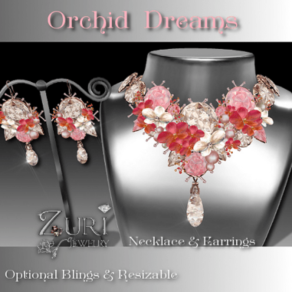 Orchid Dreams Necklace & Earrings Set