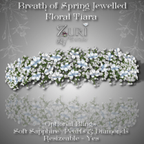 Breath of Spring Jewelled Floral Tiara