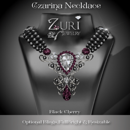 Czarina Black Cherry Necklace