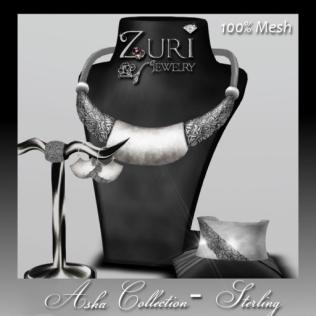 Mesh Asha Collection - Sterling- Zuri Jewelry