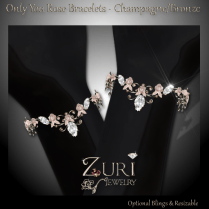 Only You Rose Bracelets - Champagne-Bronze